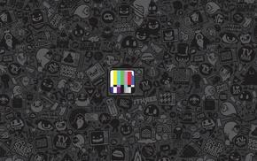 test patterns, artwork, Jared Nickerson, television sets