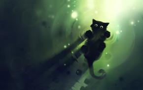 cat, artwork, ripples, Apofiss