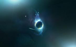 космос, планета, космический арт