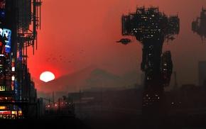 science fiction, futuristic, cyberpunk