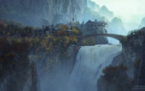 movies, Rivendell, The Lord of the Rings, waterfall