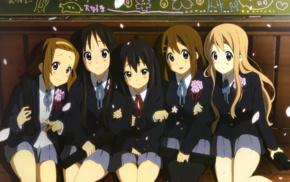 Hirasawa Yui, Tainaka Ritsu, K, ON, Akiyama Mio, school uniform