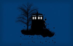 Doctor Who, Matt Smith, TARDIS, The Doctor, simple background