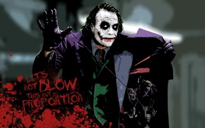 MessenjahMatt, typography, Joker, Heath Ledger, Batman, paint splatter