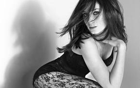 lingerie, girl, celebrity, actress, stockings, Emily Blunt