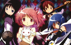 Kaname Madoka, Sakura Kyoko, Mahou Shoujo Madoka Magica, Akemi Homura, Miki Sayaka, anime