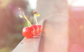 cherry, макро, свет, фрукт, блики, Ягода