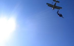 airplane, sports, Sun, extreme, sky