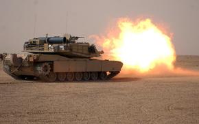 tank, desert, gun
