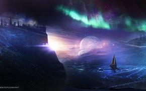 sailing ships, fantasy art, artwork, digital art