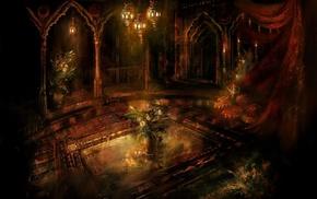 interiors, fantasy art