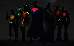 Batman, superhero, Superman, Justice League, The Flash, Aquaman