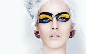 makeup, earrings, face, fashion, portrait