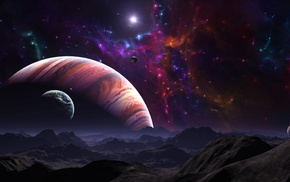 surface, mountain, space, planets