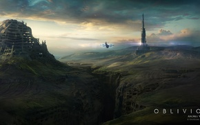 Oblivion movie, space, Andree Wallin, fantasy art, concept art, movies