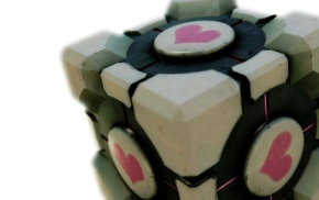 Portal, video games, Companion Cube, Portal 2