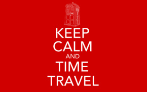 red, time travel, Keep Calm and..., The Doctor, TARDIS, Doctor Who