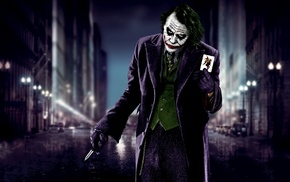 Batman, cards, The Dark Knight, knife, movies, MessenjahMatt