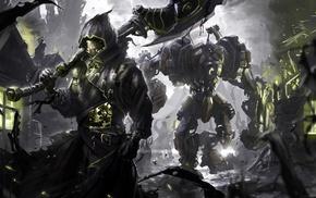 warrior, artwork, fantasy art, steampunk