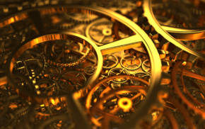 gold, gears, clockwork, macro