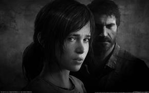 Joel, Ellie, The Last of Us, dark hair, video games, dark