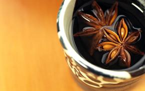 coffee, flower, chocolate, macro, drink
