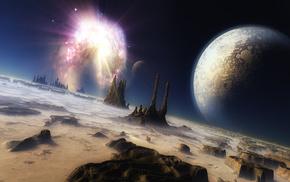 вселенная, 3d, mojoworld, Космос