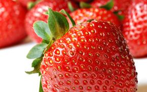 berries, fruits, strawberry, macro, photo
