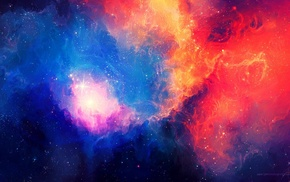 space art, universe, galaxy, space, stars, colorful