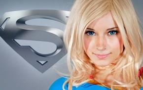 блондинка, супергерой, модель, голубые глаза, девушка