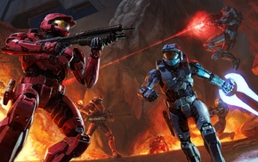 Halo, shotgun, Spartans