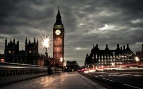 город, здание, городской пейзаж, огни, Лондон