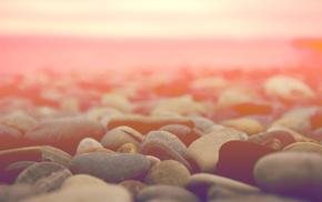 horizon, stones, macro