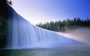 nature, water, waterfall