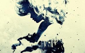 абстрактные, грандж, фильтр