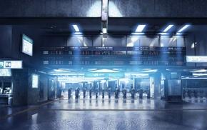 train station, metro