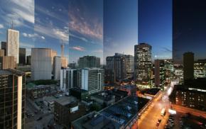 Toronto, building, cityscape, Canada, Time, lapse