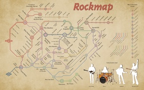 rock map, drums, bass guitars, rock  roll, blues rock, hard rock