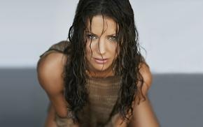 Evangeline Lilly, celebrity, brown eyes, brunette