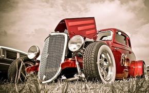 Roadster, old car, tuning