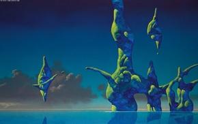 artwork, abstract, Roger Dean