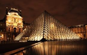 cities, Paris, night, France