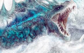 fantasy art, artwork, dragon, concept art