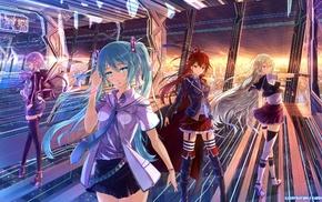 IA Vocaloid, anime girls, skirt, Hatsune Miku, Yuzuki Yukari, anime