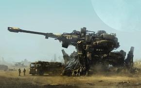 war, concept art, artwork, soldier, futuristic, mech