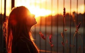 girl, sunlight
