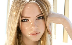 face, blonde, blue eyes, girl