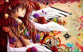 dragon, paints, anime, flowers, tattoo