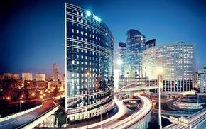 Paris, houses, night, city, cities