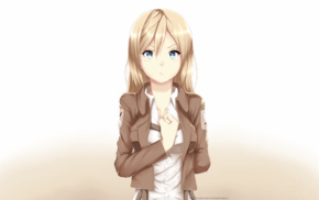 anime, Shingeki no Kyojin, anime girls, Renz Christa, Historia Reiss